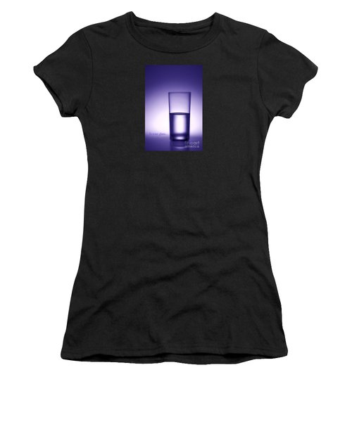 Water Glass Half Full Or Half Empty. Women's T-Shirt (Athletic Fit)