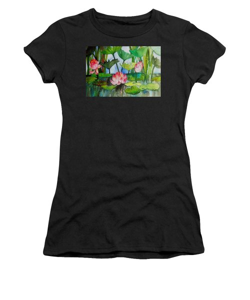Water Lillies Two Women's T-Shirt (Athletic Fit)