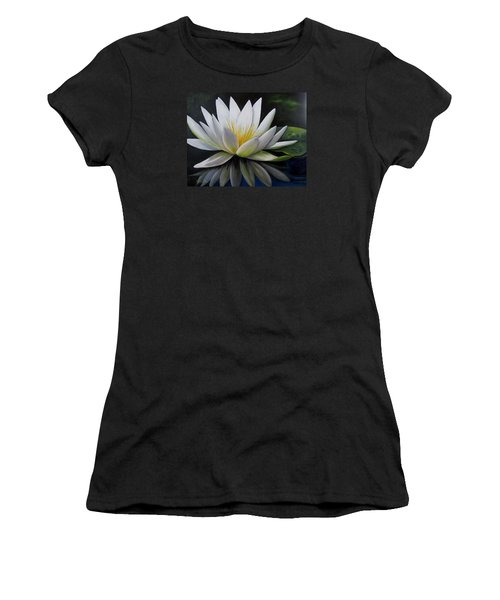 Water Lilly  Women's T-Shirt (Junior Cut) by Katia Aho