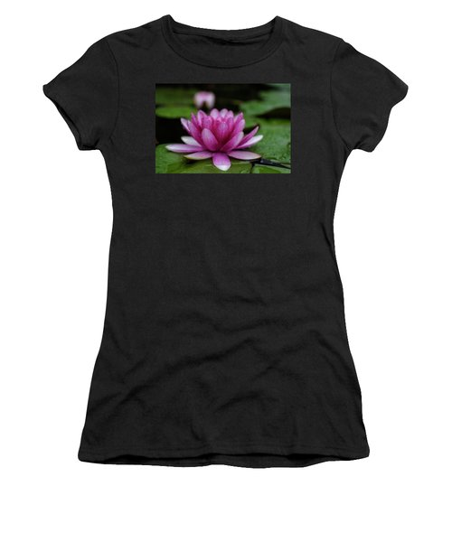 Water Lily After Rain Women's T-Shirt (Athletic Fit)