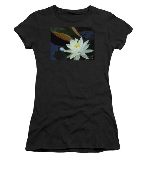Women's T-Shirt (Junior Cut) featuring the photograph Water Lily by Daun Soden-Greene