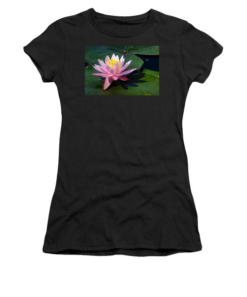 Water Lily In Mountain Lake Women's T-Shirt (Athletic Fit)