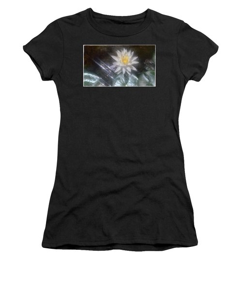 Water Lily In Sunlight Women's T-Shirt (Athletic Fit)