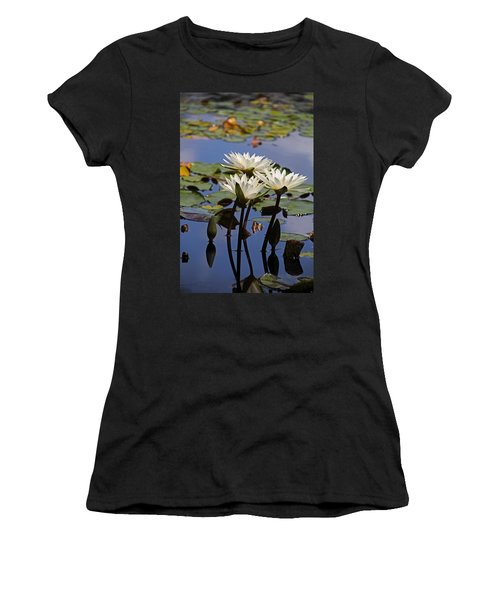 Water Lily Reflections Women's T-Shirt