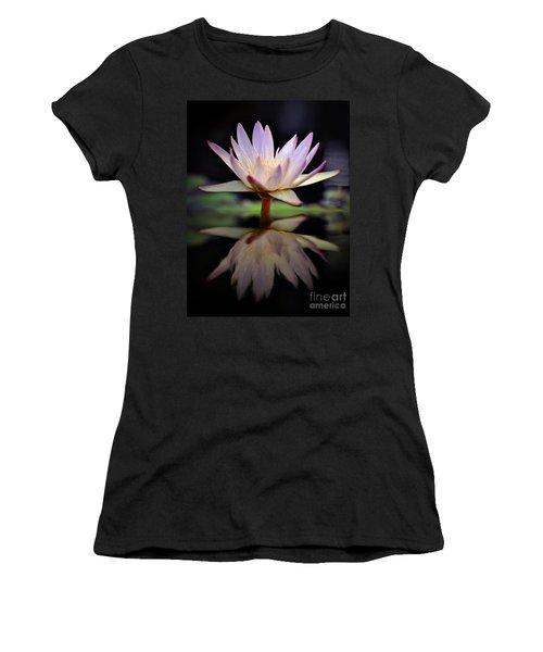 Women's T-Shirt (Junior Cut) featuring the photograph Water Lily by Savannah Gibbs
