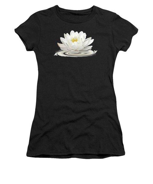 Water Lily Whirl Women's T-Shirt (Junior Cut) by Gill Billington