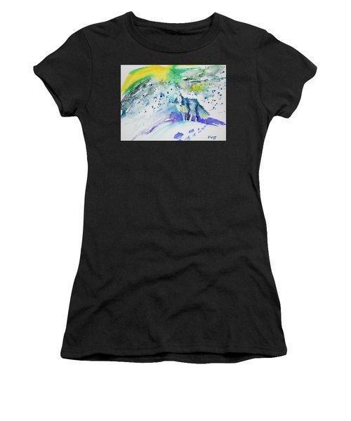 Watercolor - Arctic Fox Women's T-Shirt