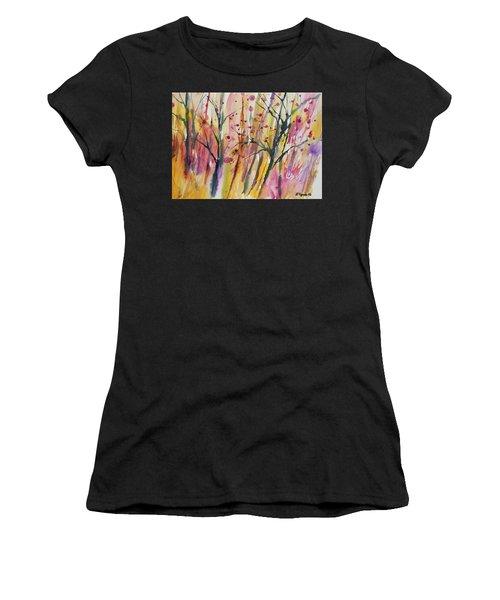 Watercolor - Autumn Forest Impression Women's T-Shirt