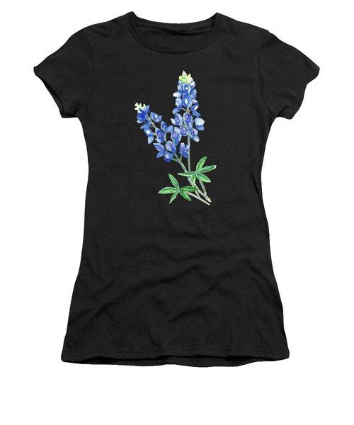 Watercolor Bluebonnets Women's T-Shirt