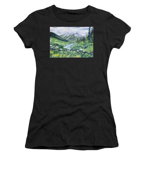 Watercolor - Colorado Summer Landscape Women's T-Shirt