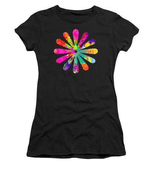 Watercolor Flower 2 - Tee Shirt Design Women's T-Shirt (Athletic Fit)