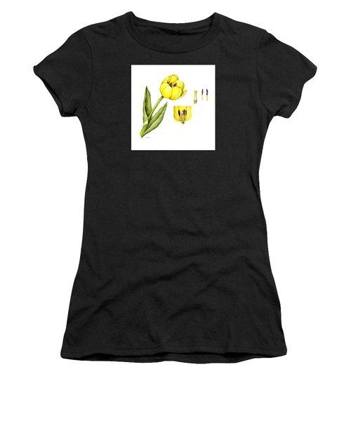 Watercolor Flower Yellow Tulip Women's T-Shirt