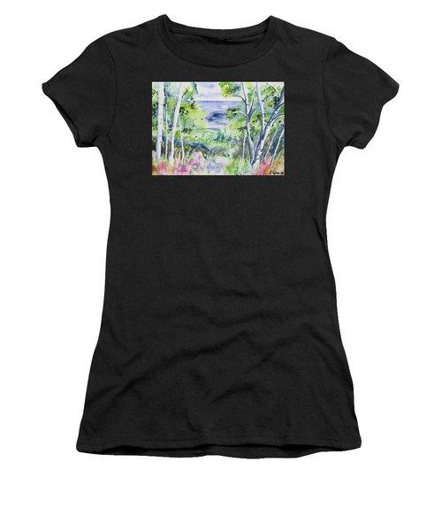 Watercolor - Lake Superior Impression Women's T-Shirt