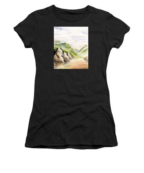 Watercolor Landscape Plein Air Women's T-Shirt