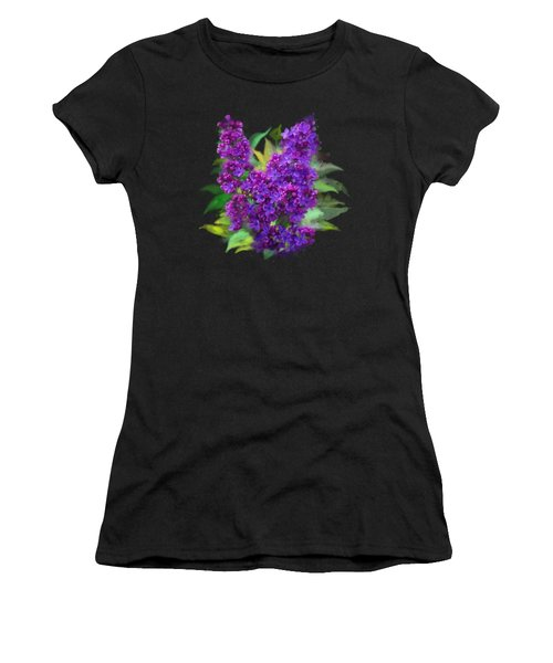 Women's T-Shirt featuring the painting Watercolor Lilac by Ivana Westin