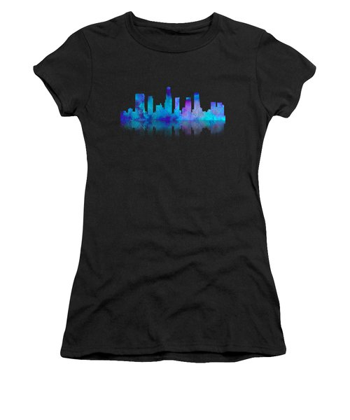Watercolor Los Angeles Skylines On An Old Paper Women's T-Shirt