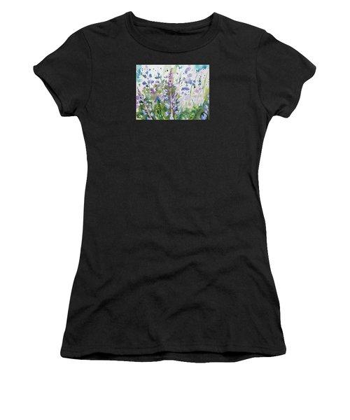 Watercolor - Lupine Wildflowers Women's T-Shirt