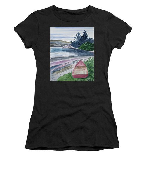 Watercolor - New Zealand Harbor Women's T-Shirt
