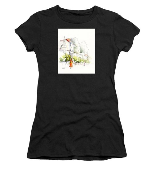 Watercolor Painting Of Monk Women's T-Shirt