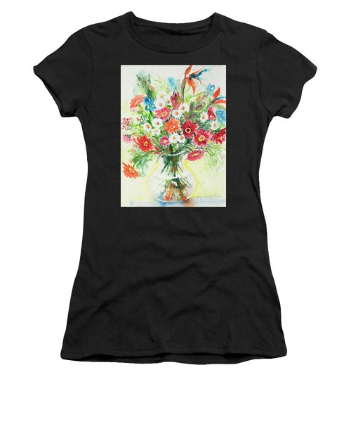 Women's T-Shirt featuring the painting Watercolor Series 125 by Ingrid Dohm