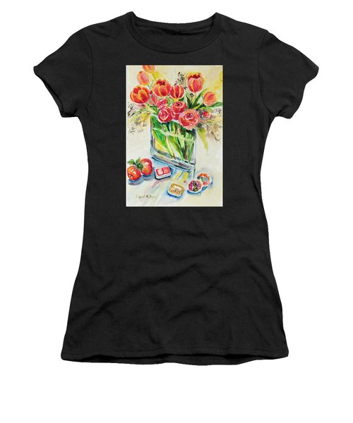 Women's T-Shirt featuring the painting Watercolor Series 132 by Ingrid Dohm