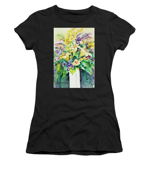 Women's T-Shirt featuring the painting Watercolor Series 136 by Ingrid Dohm