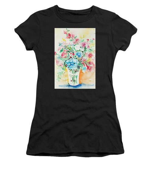 Women's T-Shirt featuring the painting Watercolor Series 140 by Ingrid Dohm