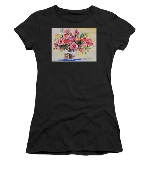 Women's T-Shirt featuring the painting Watercolor Series 152 by Ingrid Dohm