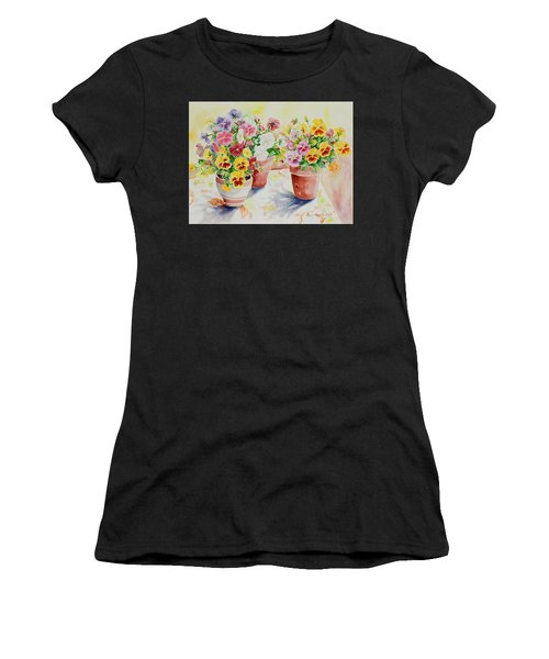 Women's T-Shirt featuring the painting Watercolor Series 174 by Ingrid Dohm