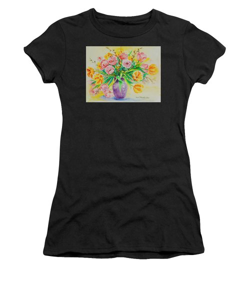Women's T-Shirt featuring the painting Watercolor Series 178 by Ingrid Dohm