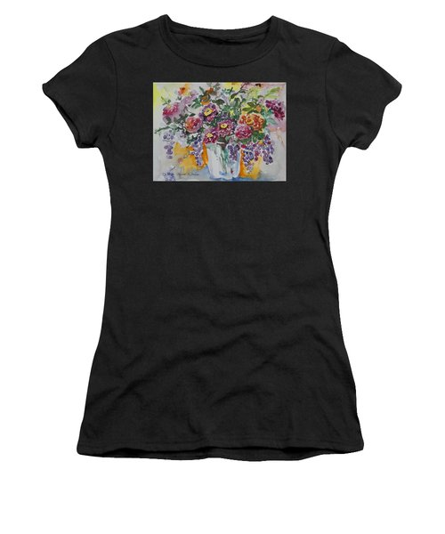Women's T-Shirt featuring the painting Watercolor Series 206 by Ingrid Dohm