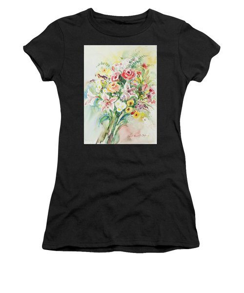 Women's T-Shirt featuring the painting Watercolor Series 41 by Ingrid Dohm