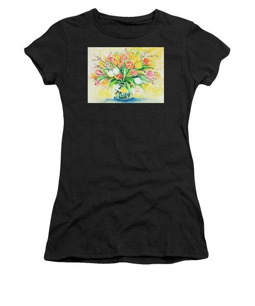 Women's T-Shirt featuring the painting Watercolor Series 48 by Ingrid Dohm