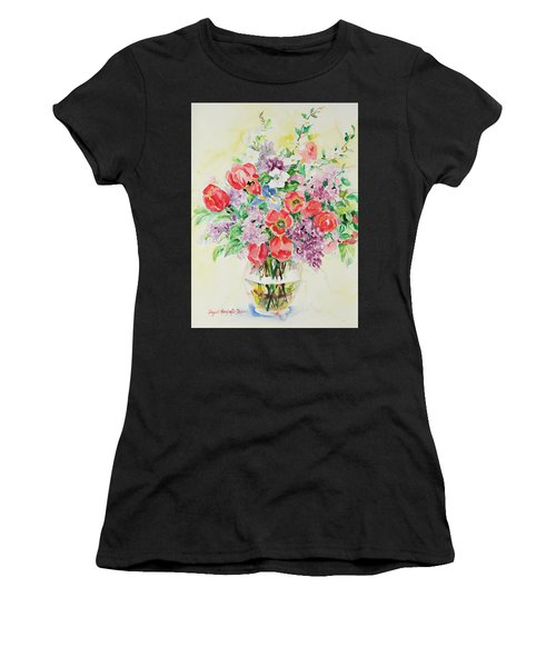 Women's T-Shirt featuring the painting Watercolor Series 61 by Ingrid Dohm