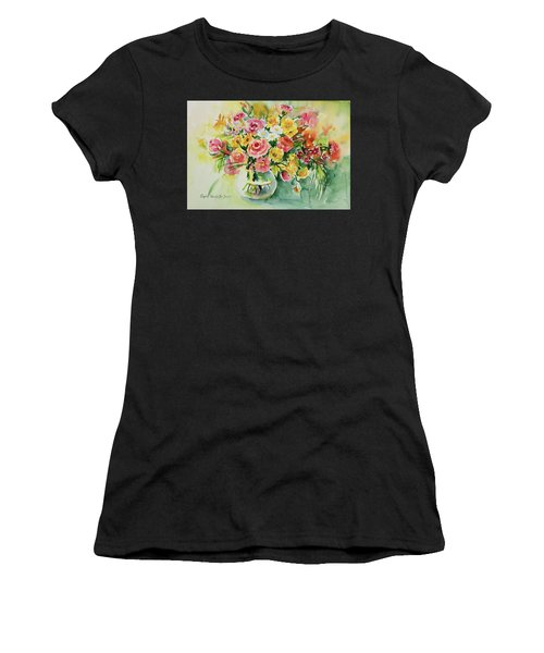 Women's T-Shirt featuring the painting Watercolor Series 85 by Ingrid Dohm
