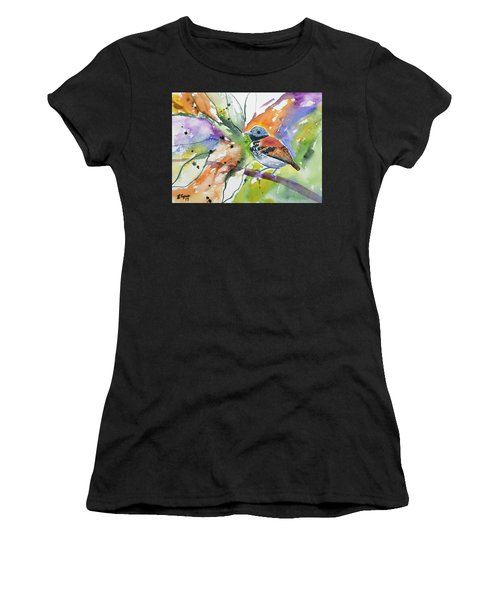 Watercolor - Spotted Antbird Women's T-Shirt