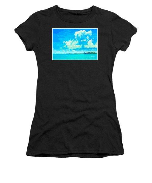 Watercolor Spring On Sarasota Bay Women's T-Shirt