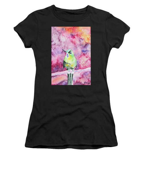 Watercolor - Violet-tailed Sylph Women's T-Shirt