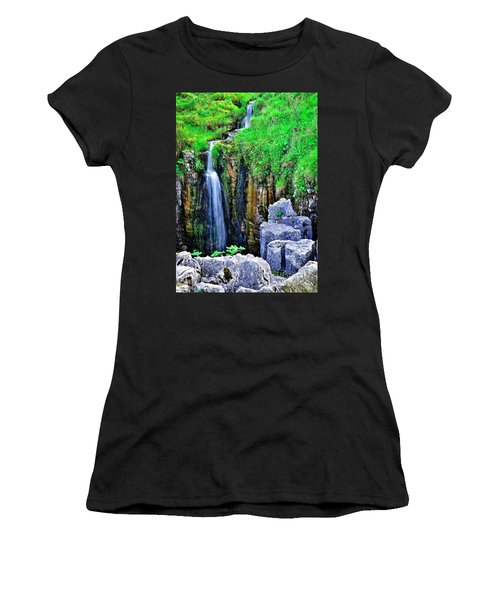 Waterfall At The Buttertubs, Swaledale Women's T-Shirt