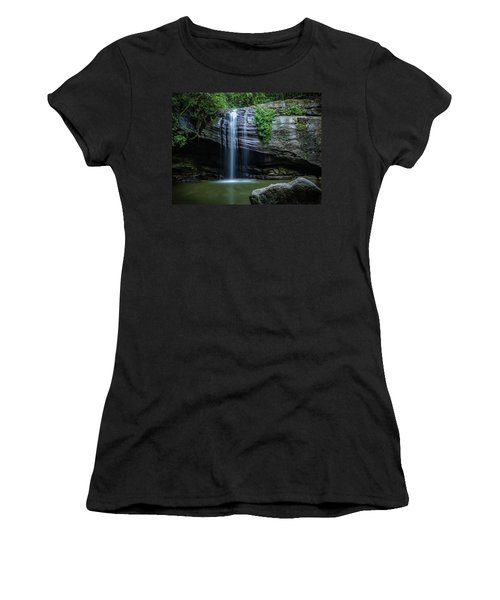 Women's T-Shirt (Athletic Fit) featuring the photograph Waterfall In Paradise by Keiran Lusk