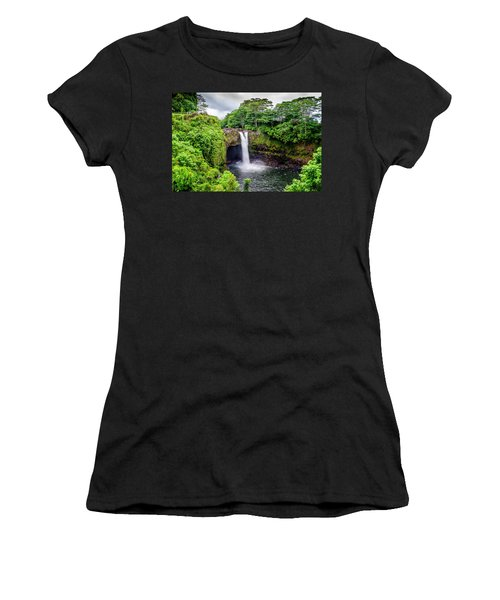 Waterfall Into The Valley Women's T-Shirt