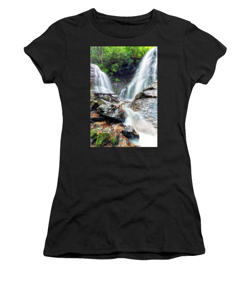 Waterfall Silence Women's T-Shirt (Athletic Fit)