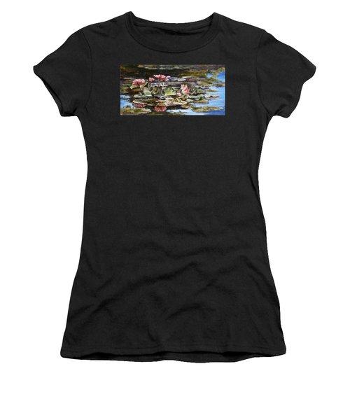 Waterlilies Tower Grove Park Women's T-Shirt (Junior Cut) by Irek Szelag
