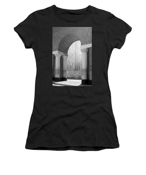 Waterwall And Arch 3 In Black And White Women's T-Shirt