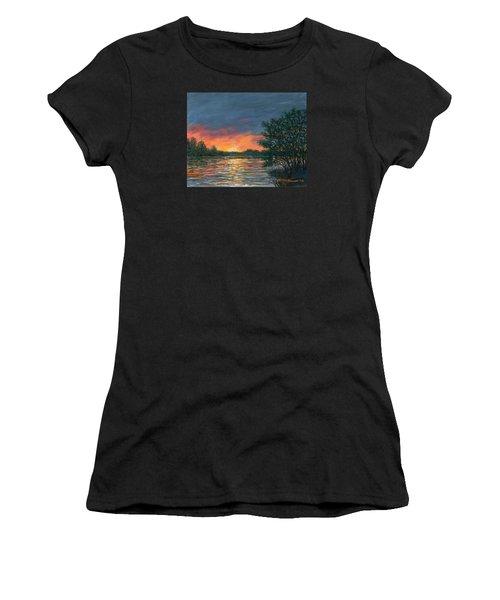 Waterway Sundown Women's T-Shirt (Athletic Fit)