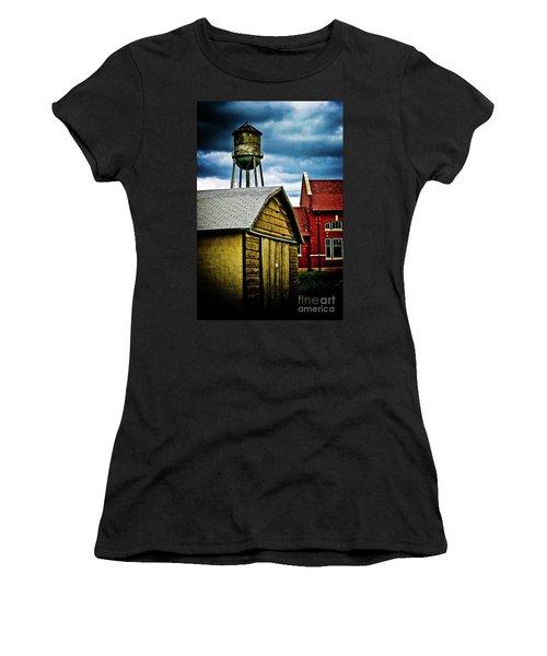 Waurika Old Buildings Women's T-Shirt (Junior Cut) by Toni Hopper