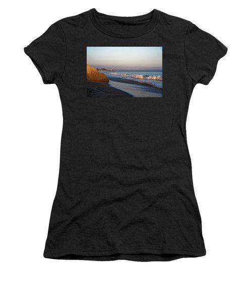 Waves At Santa Cruz Women's T-Shirt