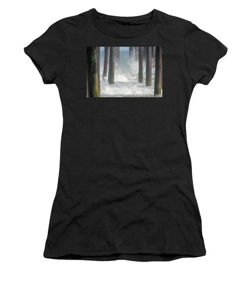 Waves Under The Pier Women's T-Shirt