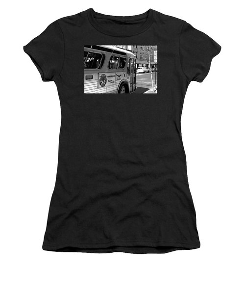 Wbru-fm Bus Sign, 1975 Women's T-Shirt