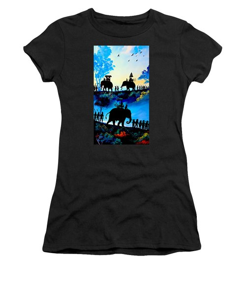 We March At Sunrise  Women's T-Shirt (Athletic Fit)